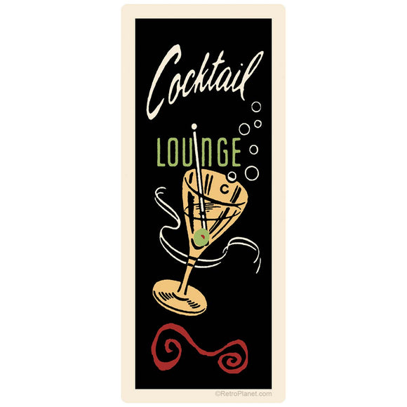 Cocktail Lounge Martini Sticker