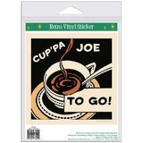 Cuppa Joe To Go Coffee Sticker