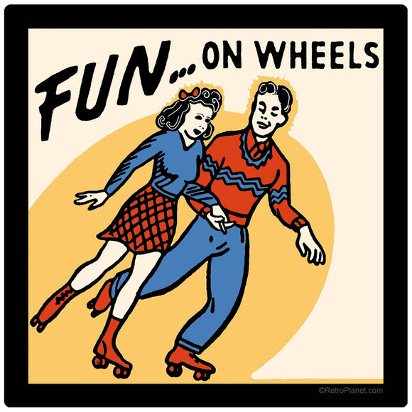 Fun On Wheels Roller Skate Sticker