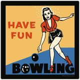 Have Fun Bowling Sticker