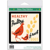 Healthy Poultry Fresh Eggs Sticker