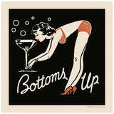 Bottoms Up Cocktail Sticker