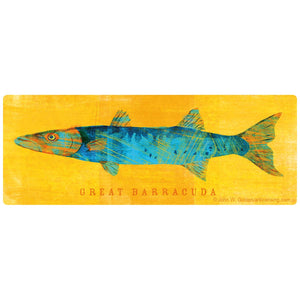 Great Barracuda Game Fish Sticker