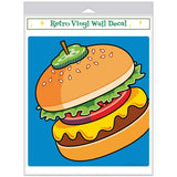 Cheeseburger Pickle On Top Pop Art Decal