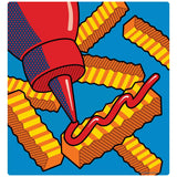 French Fries with Ketchup Pop Art Decal