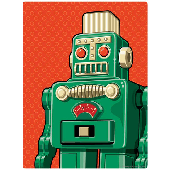 Green Retro Robot Toy Decal