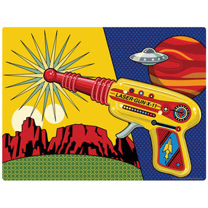 Toy Laser Gun X-11 & UFO Decal
