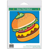 Cheeseburger Pickle On Top Pop Art Sticker