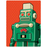 Green Retro Robot Toy Sticker