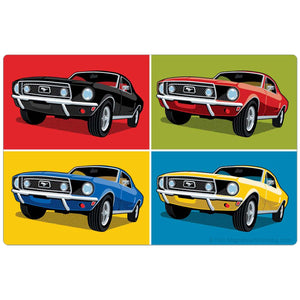 1968 Ford Mustangs Collage Pop Art Sticker