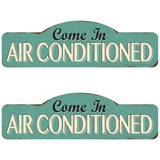 Come In Air Conditioned Wholesale Decal Set of 2