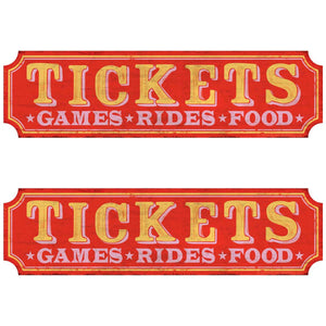 Ticket Booth Games Rides Food Wholesale Decal Set of 2