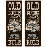 Old Bikers Rule Wholesale Decal Set of 2