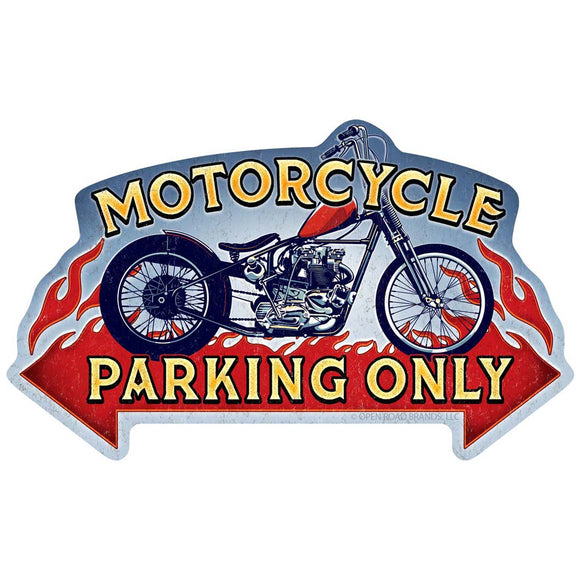 Motorcycle Parking Only Wholesale Decal