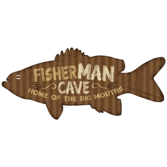 Fisherman Cave Big Mouths Wholesale Sticker