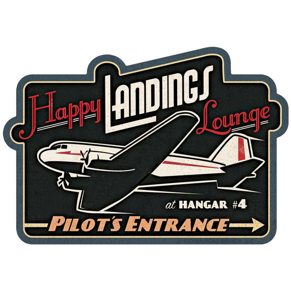 Happy Landings Lounge Wholesale Sticker