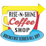 Rise-N-Shine Coffee Shop Wholesale Sticker