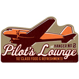 Pilots Lounge Food & Refreshments Airplane Wholesale Sticker