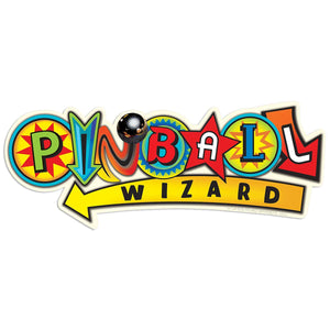 Pinball Wizard Arcade Style Wholesale Sticker