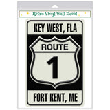 Route 1 Key West FL Fort Kent ME Decal