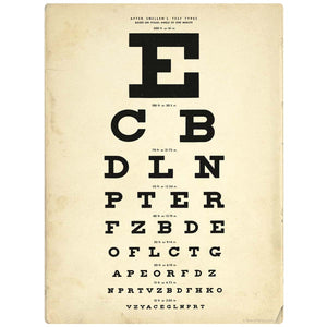 Eye Test Chart Decal