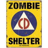 Zombie Shelter Civil Defense Decal