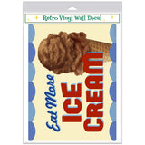 Eat More Ice Cream Chocolate Cone Decal