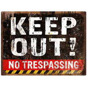 Keep Out No Trespassing Decal