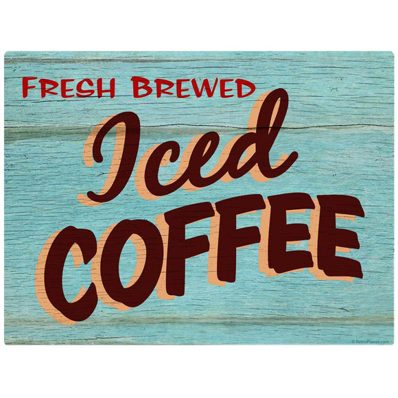 Iced Coffee Rustic Decal