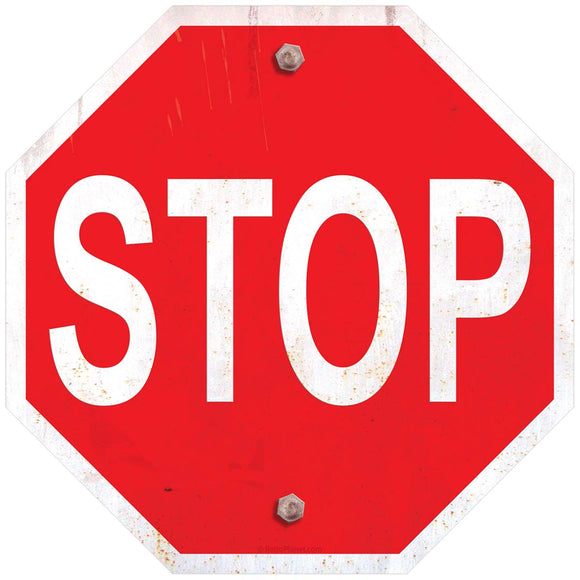 Stop Traffic Sign Decal