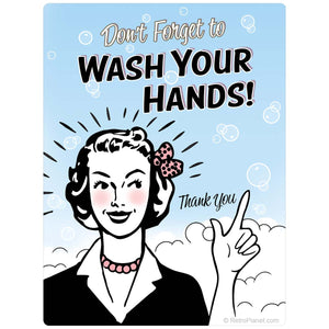 Wash Your Hands Bathroom Sticker