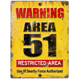 Area 51 Warning Restricted Area Sticker