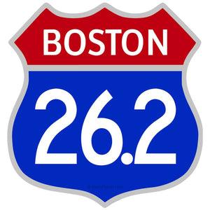Boston Marathon 26.2 Miles Patriotic Sticker
