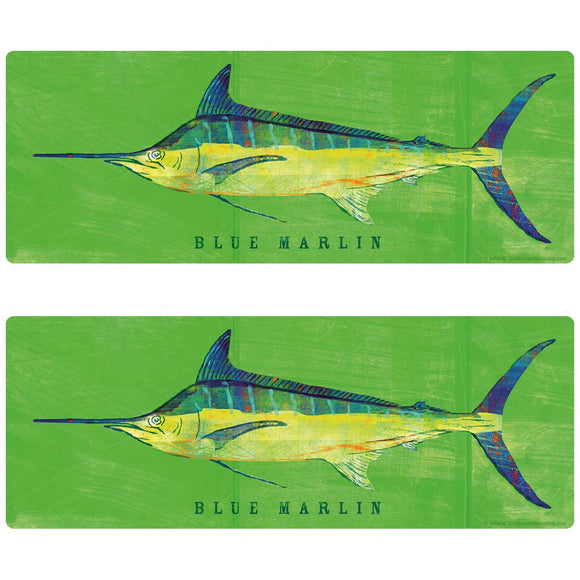 Blue Marlin Game Fish Decal Set of 2