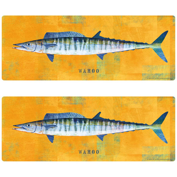 Wahoo Game Fish Decal Set of 2