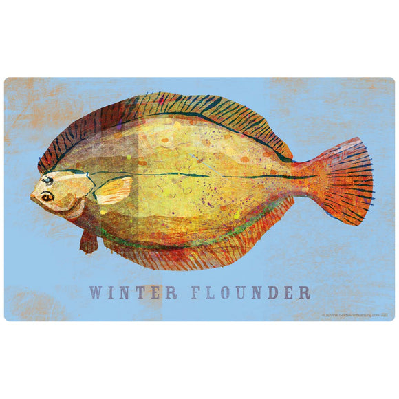 Winter Flounder Decal Set of 2