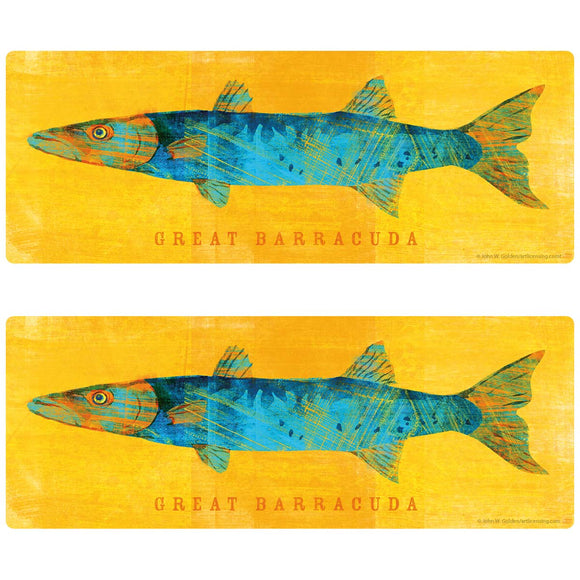 Great Barracuda Game Fish Decal Set of 2