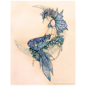 Mermaid Fairy On The Moon Decal