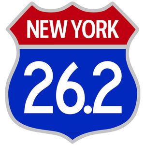 New York City Marathon 26.2 Patriotic Decal