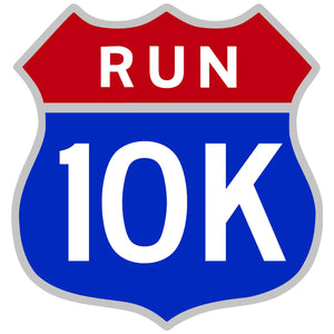 10K Run Road Race Patriotic Shield Decal