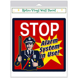Stop Cop Alarm System Warning Decal