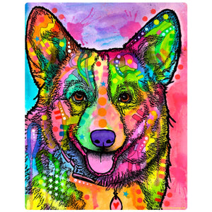 Smiling Corgi Dog Decal