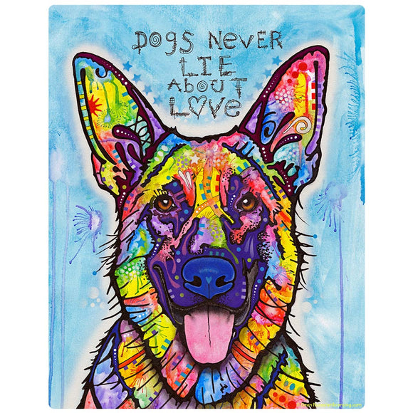 Dogs Never Lie About Love German Shepherd Decal
