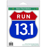 Half Marathon 13.1 Patriotic Shield Sticker