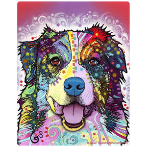 Happy Australian Shepherd Dog Sticker