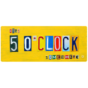 5 o Clock Somewhere License Plate Style Sticker