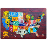USA State License Plate Style Sticker