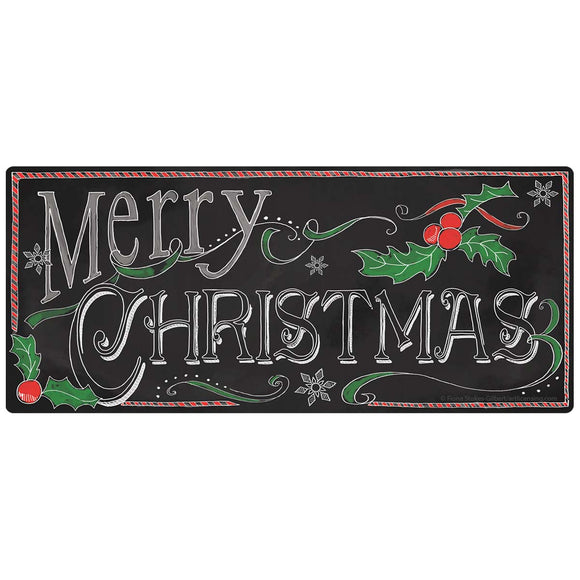 Merry Christmas Chalk Look Decal