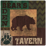 Bears Den Tavern Rustic Cabin Decal