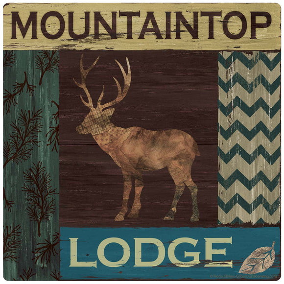 Mountaintop Lodge Stag Cabin Decal